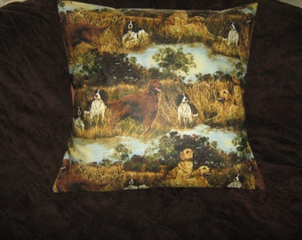 HUNTING/BIRD Dogs PILLOW Cover  Spanels, Retrievers, Irish Setter