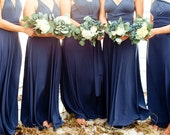 """Princess Cut Bridesmaids Gowns - Full, fabulous, flowing """"Infinity"""" style gowns available in hundreds of colors"""