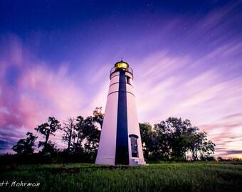 Louisiana New Orleans Lake Pontchartrain Lighthouse Long Exposure Photography