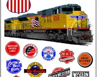 RAILROAD TIN SIGN - Union Pacific