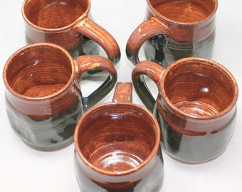 Pottery Sienna's Depth Ceramic Mug Coffee Cup 15 - 17 oz Mug Set Gift Build a Set