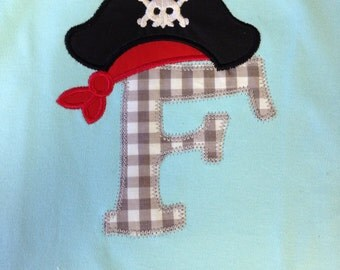 Boy or Girl pirate Shirt - Gasparilla - Infant or Toddler - Personalized - Boutique - Skull Shirt - Pirate
