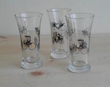 Vintage Libbey Curio Glasses by Freda Diamond