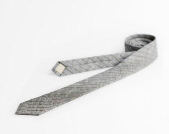 Skinny tie, necktie, brown tie, herringbone tie, mens neckties