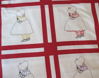 hard to find about 2.5 yds Sunbonnet Sue Collection Windham Fabrics Rocky Mountain Quilt Museum pattern last piece