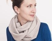 Light beige tube scarf - 100 % wool. - mmhm...