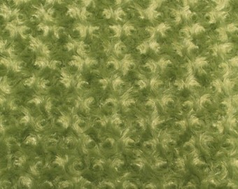 "Olive Rose Bud faux Minky custom fabric by the yard 60"" wide"