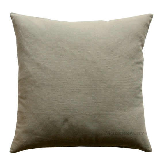 Solid Throw Pillows Kelp Taupe Solid Pillow Accent Pillow