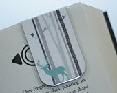 Wildlife Magnetic Bookmark, Teal Deer in Aspen, Birch Trees, Nature, Manly Bookmark, Hunting Bookmark