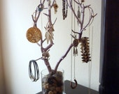 SPRING SALE!!! Manzanita Jewelry Tree done in metallic Cotton Candy Pink! Bring out the inner bombshell!