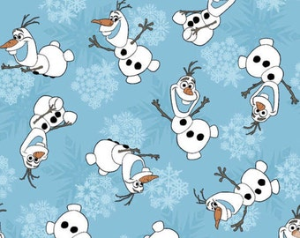 Sale In Stock Disney Frozen Olaf cotton fabric from Springs fabrics