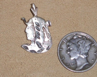 Vintage Sterling Silver King Tut Charm Or Pendant Egyptian 1980's Signed Jewelry 3095