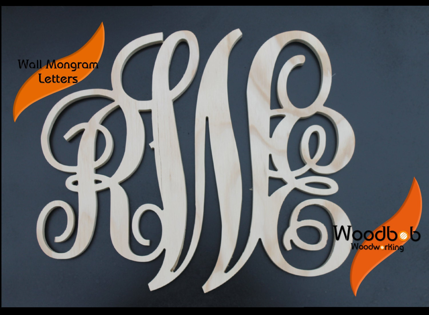 30'' Wall monogram monogram letter wooden by WoodbobWoodworking