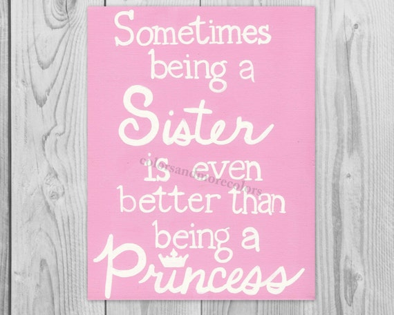 Sister Quote - Gifts for Sister - Canvas Quote Art - Canvas Art Quote - Sisters Gift - Christmas Gift for Sister