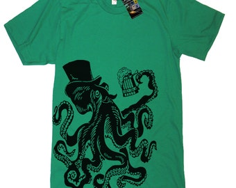 Otto The Octopus T Shirt - Mens American Apparel Tee - S M L Xl 2Xl (15 Color Options)