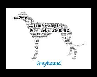 Greyhound, Greyhound art, Custom, Personalize, Pet Gift, Print, Dog Art, Pet Art, Pet Memorial, Custom Dog