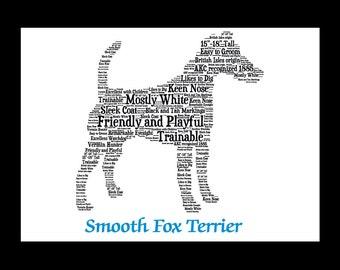 Smooth Fox Terrier,Smooth Fox Terrier Art,Smooth Fox Terrier Artwork,Smooth Fox Terrier Print,Custom, Personalize, Pet Gift, Pet Memorial