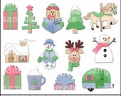 Soft Comfy Christmas Clipart and Graphic Set, Holiday Clipart- Digital Scrapbooking Kit