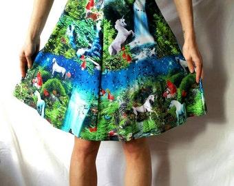 HIGH WAISTED SKIRT Fairy Skirt Unicorn Skirt Unicorn Clothing Unicorn Unicorn Skirt Fairy Unicorn