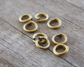 500 Bronze Jump Rings Round Open Jumprings 5mm 19 Gauge