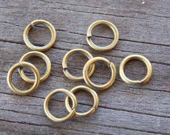 200 7mm Antiqued Bronze Open Jump Rings 16 Gauge