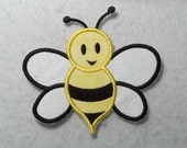 Bumble Bee (large) Tutu & Shirt Supplies - fabric iron on Applique Patch 7259