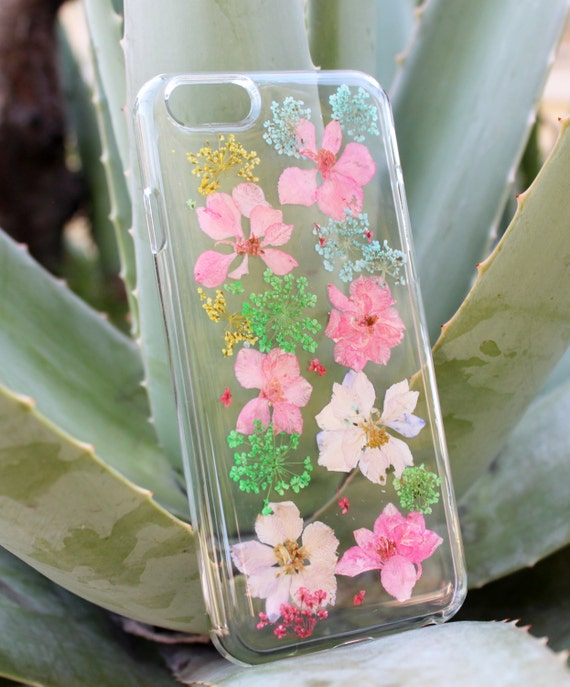 iPhone SE Case, Flower Case - Hand Selected Natural Pressed Dried ...