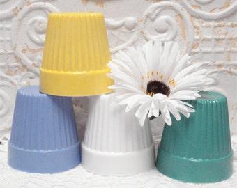 Hazel Atlas Flower Pot Fired On Color
