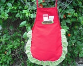 Christmas cookies for Santa child apron. Personalization available.  Member FEST and CFEST.
