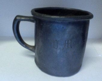 Vintage Mug 1881 Rogers Silver plated teething Cup