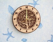 """Wood carved wall clock """"Tree"""""""