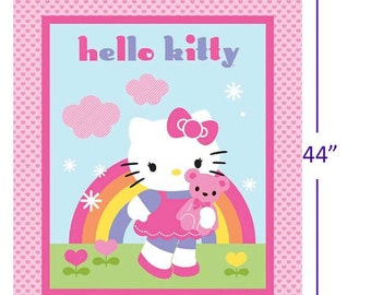 """165000052 - Hello Kitty Fabric - Sold by the 36"""" Panel"""