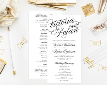 Calligraphy Wedding Program