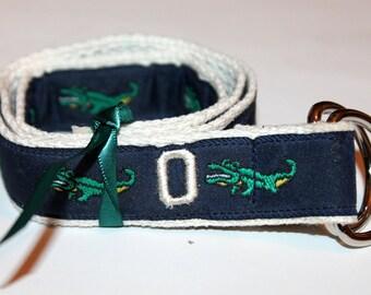 Kids Alligator Belt Initial Belt Name Belt Monogram Belt