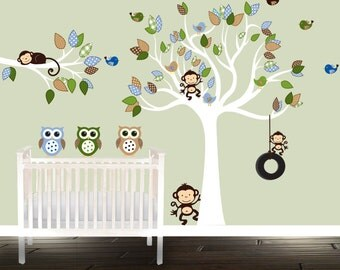 jungen kinderzimmer wand aufkleber set nautische wandtattoo. Black Bedroom Furniture Sets. Home Design Ideas
