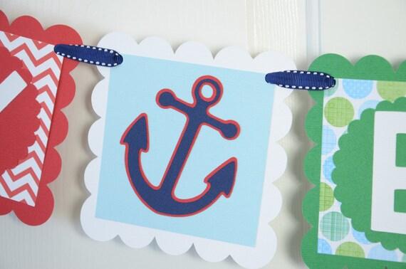Anchor Birthday Happy Birthday Banner Birthday Party Anchor