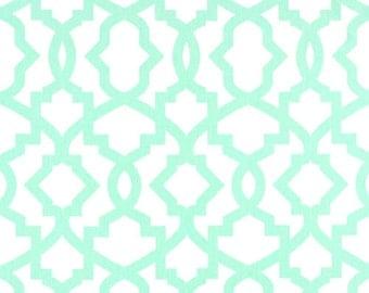 2 Curtain Panels. Mint Green Sheffield Drapes. Geometric Window Treatments. All Sizes. Custom Drapery Panels