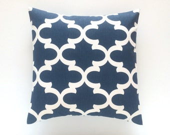 Cadet Blue Decorative Throw Pillow Cover. Pick a Size. Decorative Moroccan Couch Pillow Cover.