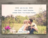 Vintage Typewriter Save The Date, Printable Wedding Save The Date