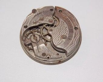 Antique 34mm Etched Pocket Watch Movement