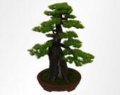 Artificial Bonsai Tree Sculpture, Japanese, Chinese, Pine, faux, bonzai