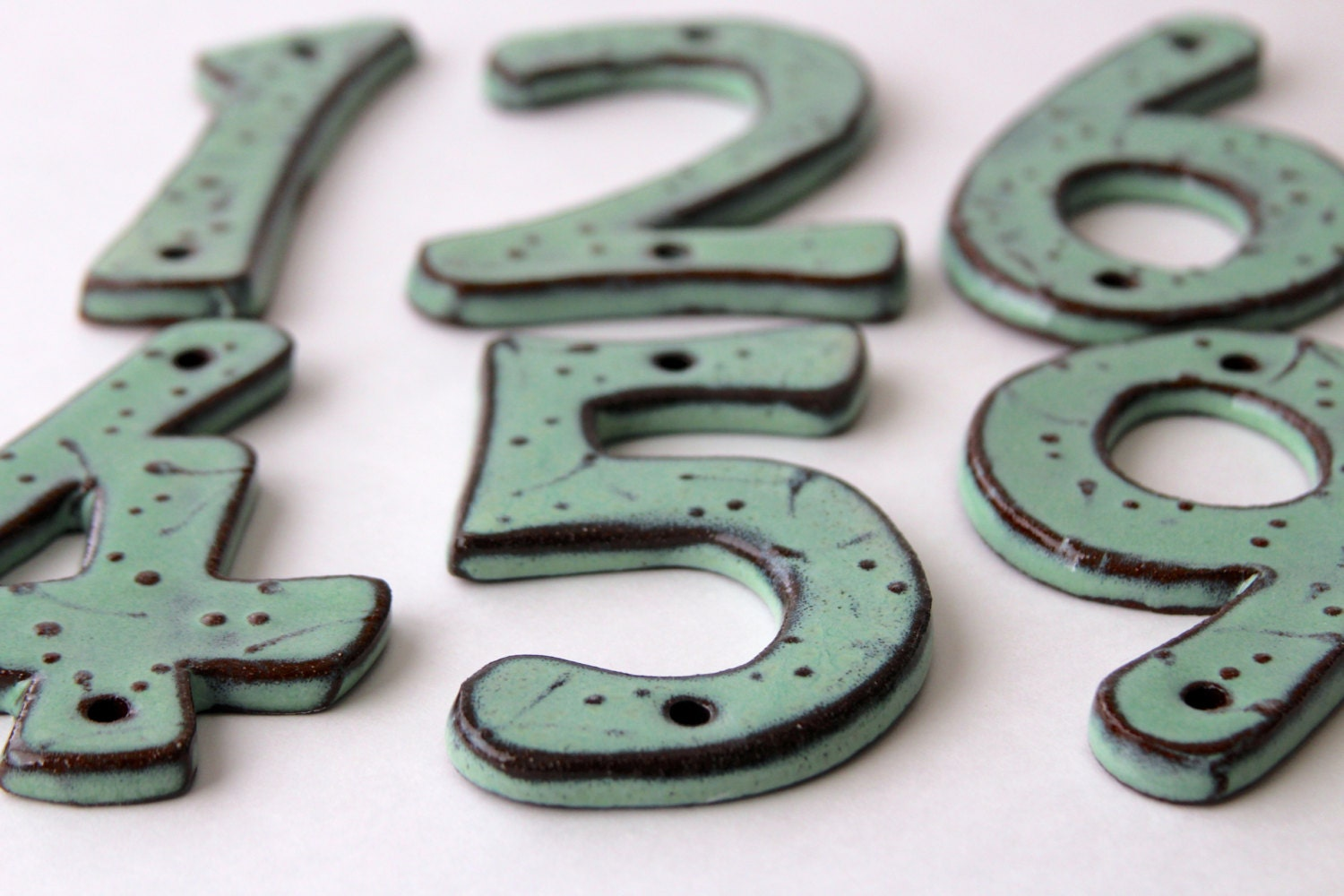 Outdoor Ceramic House Numbers Or Letters Set Of By Backbaypottery