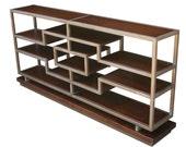 Casablanca poplar solid metal tube lower bookcase