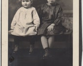 Vintage/Antique photo of two beautiful girls/ sisters