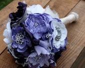 Purple brooch bouquet, Purple brooch and pearl bouquet, available in any color or size!