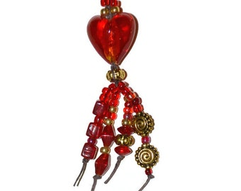 ON SALE Valentines Day Bookmark Red Heart  with FREE Dream in Chocolate Journal