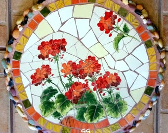 Mosaic stepping stone Mosaic wall plaque Mosaic wall decor