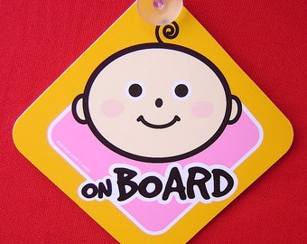 Cute Baby on Board Sign for Boys n' Girls