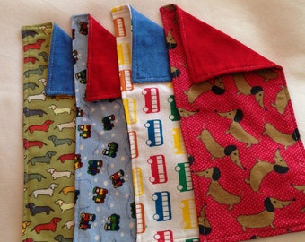 Baby Boy Bundle of Burpees Trains, Buses, and Puppy Dogs -- Set of Four