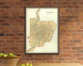 Old map of Rochester  - Vintage  map - Rochester map fine print